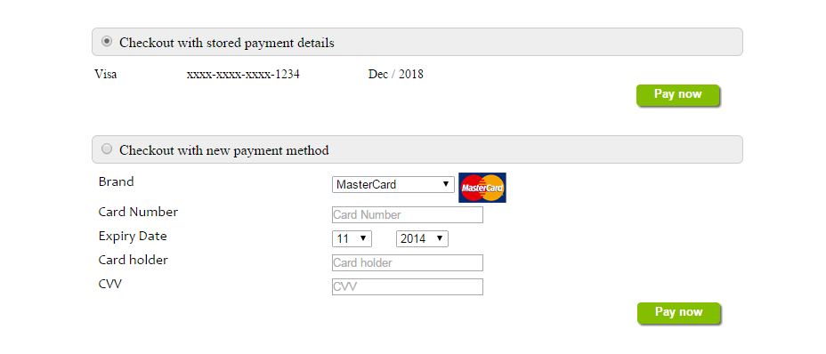 one-click checkout